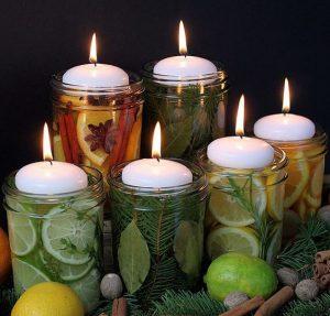 Ideias para frascos de vidro